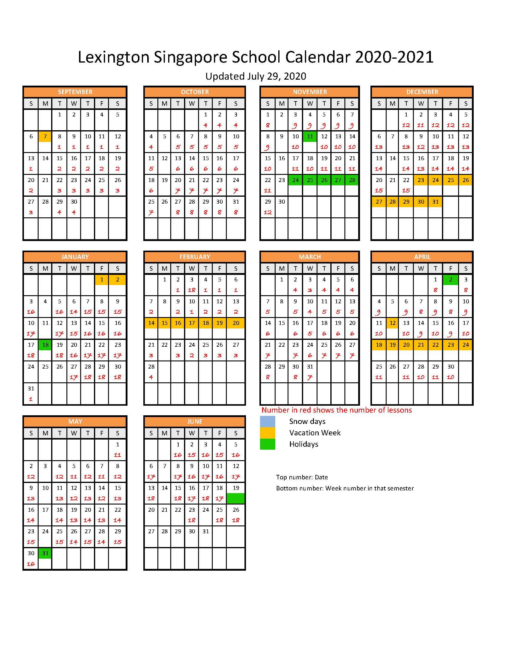 calendar_2020-2021 - Lexington Singapore School